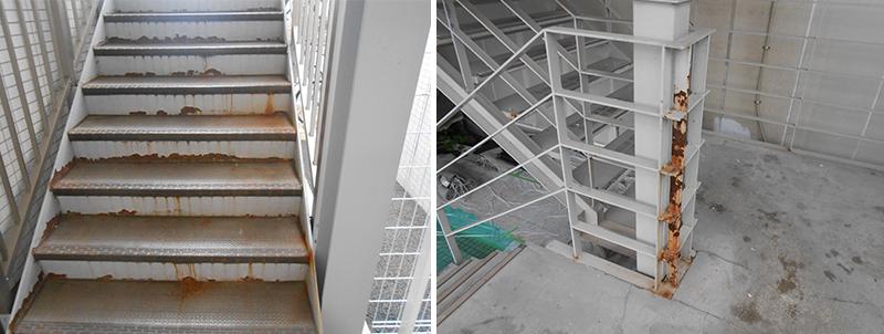 鉄骨階段サビ