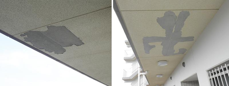 天井塗膜剥離